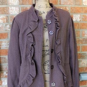 Decree Mauve Dusty Purple Blazer Jacket Size XL